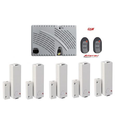 GT 13.9/CM KIT allarme con sensore SUBSONICO e 5 Contatti Magnetici