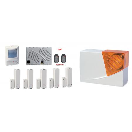 GT 13.9  KIT allarme con sensore SUBSONICO e 5 CM / 1 IR / 1 SIRENA