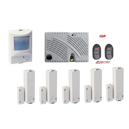 KIT GT 13.9/CM/IR KIT allarme con sensore SUBSONICO - 5 Contatti Magnetici - 1 Sensore Ir