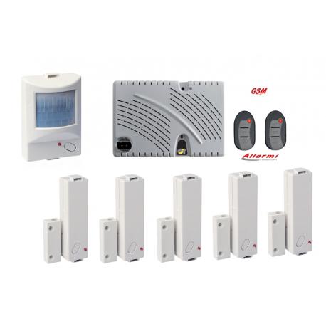 KIT GT 13.9/CM KIT allarme con sensore SUBSONICO e 5 Contatti Magnetici